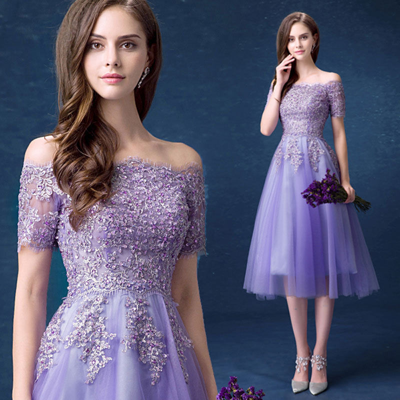 Prom Gown Bridesmaid Dress Sexy Long Lace Cocktail Evening Formal ...