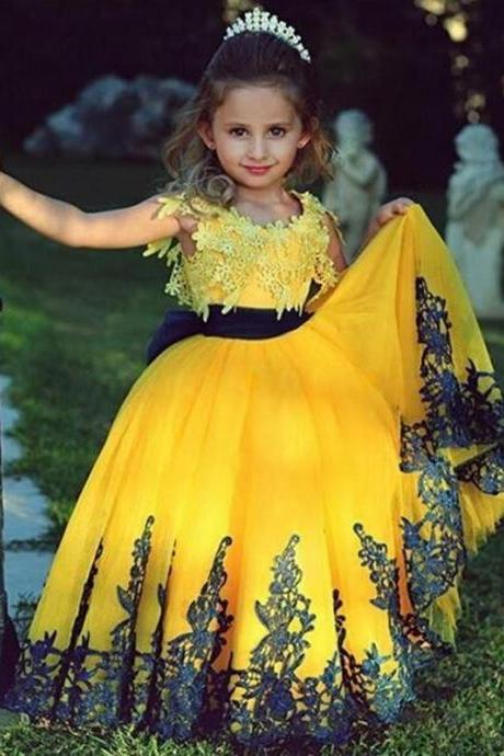 Hot Sale Flower Girl Princess Dress Kid Party Pageant Wedding