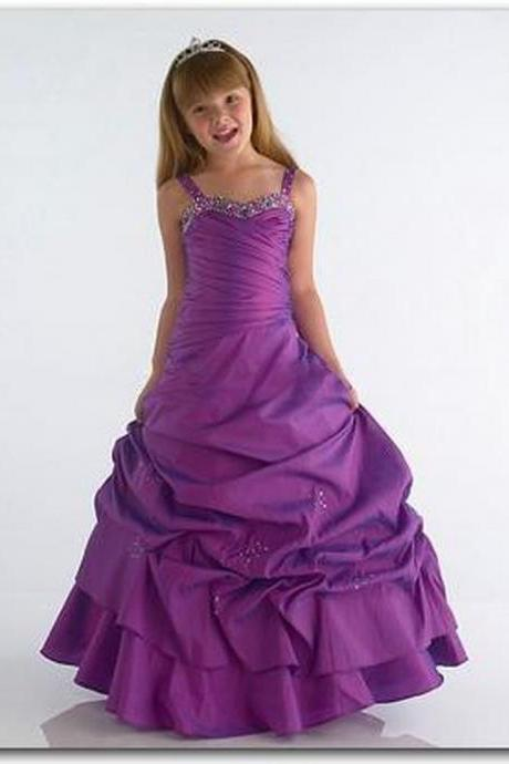 Pageant Flower Girl Dress Kids Birthday Wedding Bridesmai