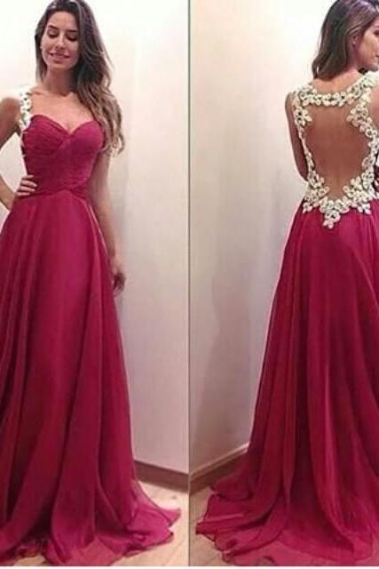 Hot sale Charming Burgundy Sweetheart Floor Length Prom Dress with Applique Blackless Detalis, Handmade Prom Dresses