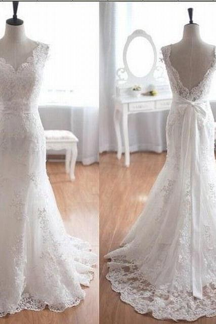 Hot Sale Wedding Dresses,Wedding Gown,Lace Wedding Gowns,New Bridal Dress,Fitted Wedding Dress,Brides Dress,Vintage Wedding Gowns