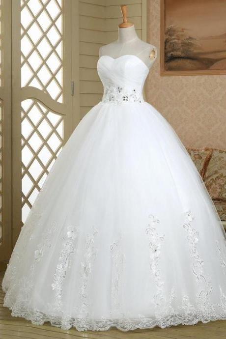 HS353 Hot Selling Lace Up Corset Ball Gown Lace Wedding Dress Bridal dress