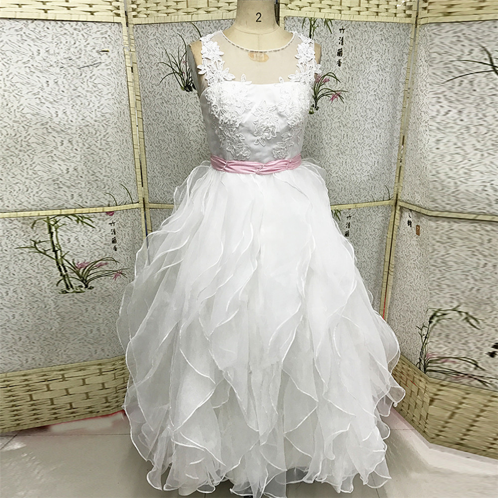 27a379a581b Lace Holy Communion Dresses Pageant Ball Gowns For Girls Wedding Gowns Kids  White Pink Flower Girl D on Luulla